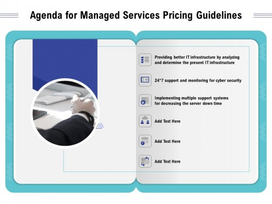 Cloud Managed Services Pricing Guide Agenda For Managed Services Pricing Guidelines Ppt Infographics Background PDF