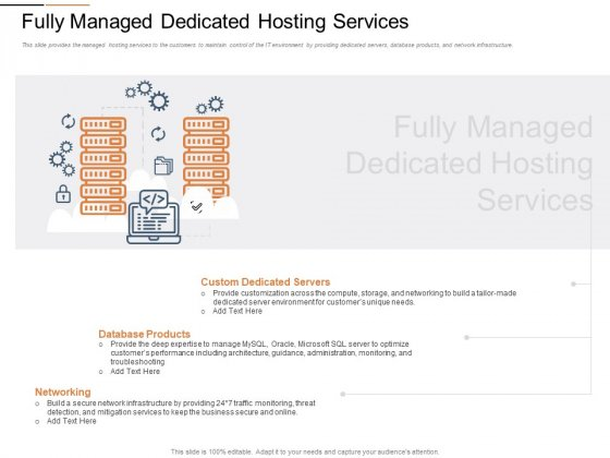 Cloud Services Best Practices Marketing Plan Agenda Fully Managed Dedicated Hosting Services Microsoft PDF