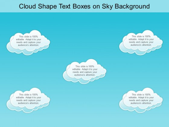 Cloud Shape Text Boxes On Sky Background Ppt PowerPoint Presentation Ideas Gridlines