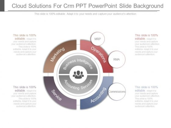 Cloud Solutions For Crm Ppt Powerpoint Slide Background