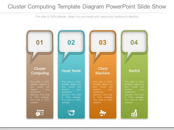 Cluster Computing Template Diagram Powerpoint Slide Show