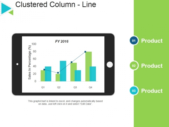 Clustered Column Line Ppt PowerPoint Presentation Outline Infographic Template