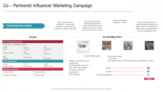 Co Variety Advertisement Co Partnered Influencer Marketing Campaign Sample PDF