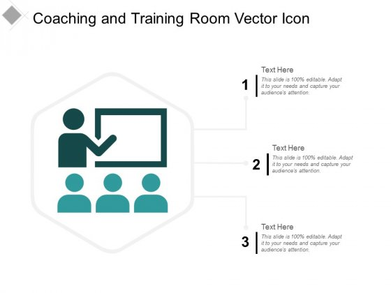 Coaching And Training Room Vector Icon Ppt Powerpoint Presentation Background Designs
