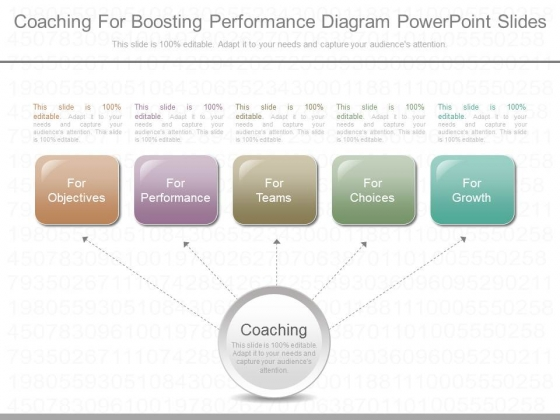 Coaching For Boosting Performance Diagram Powerpoint Slides