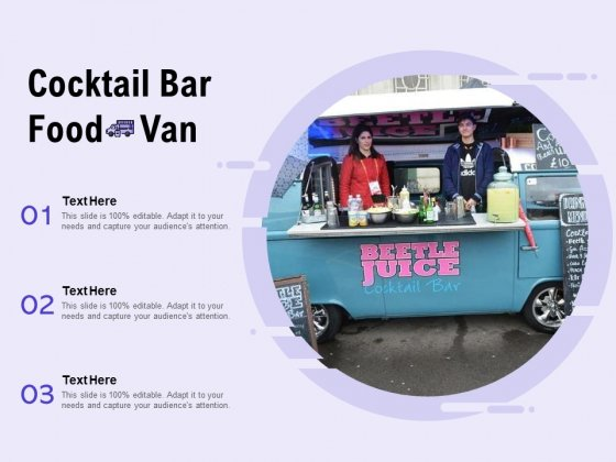 Cocktail Bar Food Van Ppt PowerPoint Presentation Visual Aids Gallery