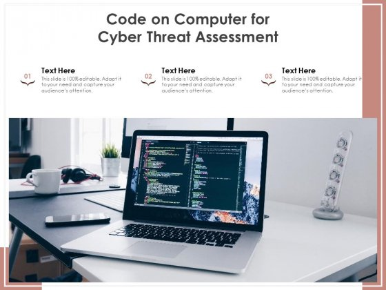 Code On Computer For Cyber Threat Assessment Ppt PowerPoint Presentation File Infographics PDF