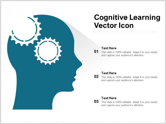 Cognitive Learning Vector Icon Ppt PowerPoint Presentation Layouts Graphic Tips