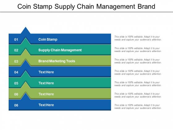 Coin Stamp Supply Chain Management Brand Marketing Tools Ppt PowerPoint Presentation Summary Template