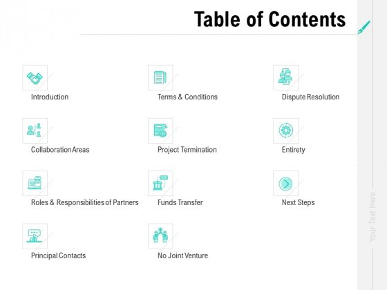 Collaboration_Agreement_Table_Of_Contents_Ppt_Gallery_Vector_PDF_Slide_1