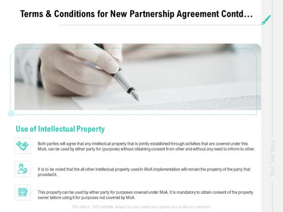 Collaboration_Agreement_Terms_And_Conditions_For_New_Partnership_Agreement_Contd_Ppt_Icon_Information_PDF_Slide_1