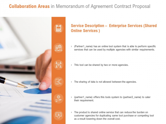 Collaboration Areas In Memorandum Of Agreement Contract Proposal Ppt PowerPoint Presentation Model Display
