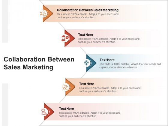 Collaboration Between Sales Marketing Ppt PowerPoint Presentation Styles Samples Cpb Pdf