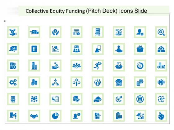 Collective Equity Funding Pitch Deck Icons Slide Topics PDF