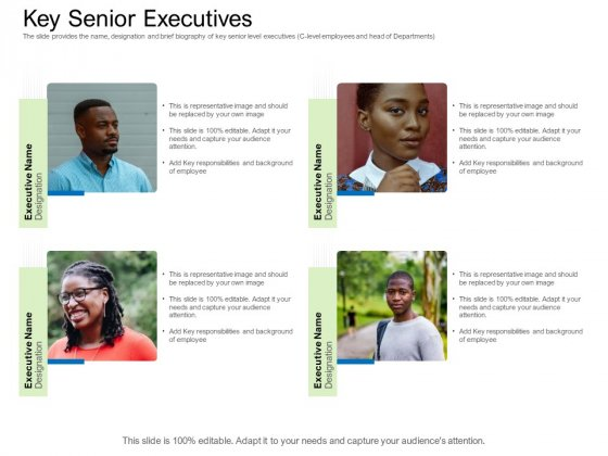 Collective Equity Funding Pitch Deck Key Senior Executives Portrait PDF