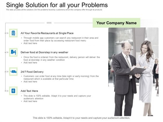 Collective Equity Funding Pitch Deck Single Solution For All Your Problems Summary PDF