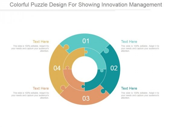 Colorful Puzzle Design For Showing Innovation Management Ppt PowerPoint Presentation Guidelines