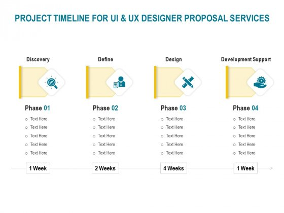Command Line Interface Project Timeline For UI And UX Designer Proposal Services Ppt Icon Topics PDF