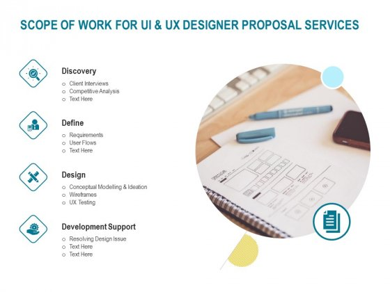 Command Line Interface Scope Of Work For UI And UX Designer Proposal Services Ppt Model Maker PDF