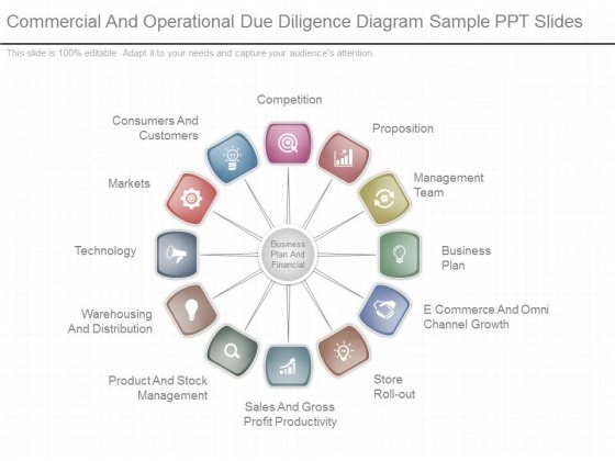 Commercial And Operational Due Diligence Diagram Sample Ppt Slides