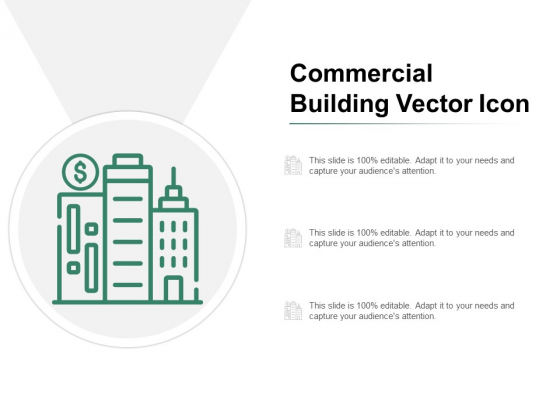 Commercial Building Vector Icon Ppt PowerPoint Presentation Ideas Files