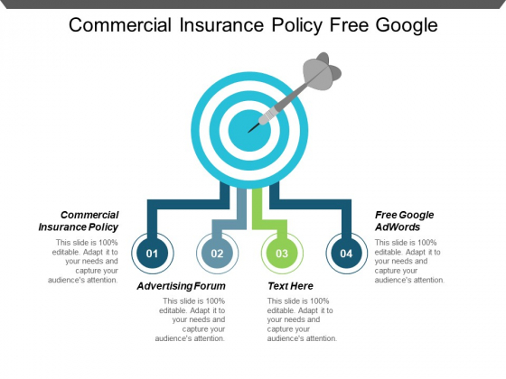 Commercial Insurance Policy Free Google Adwords Advertising Forum Ppt PowerPoint Presentation Slides Tips