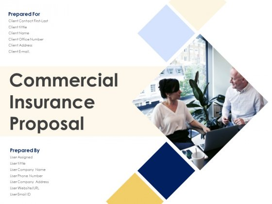 Commercial Insurance Proposal Ppt PowerPoint Presentation Complete Deck With Slides