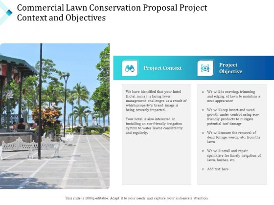 Commercial Lawn Conservation Proposal Project Context And Objectives Ppt Professional Background PDF