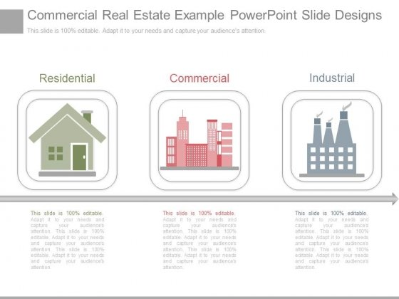 Commercial Real Estate Example Powerpoint Slide Designs
