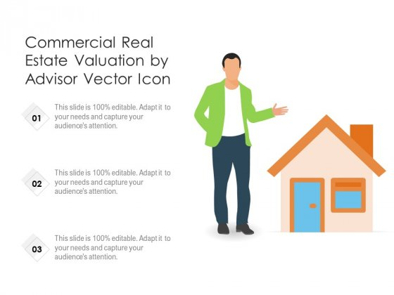 Commercial Real Estate Valuation By Advisor Vector Icon Ppt PowerPoint Presentation Gallery Graphics PDF