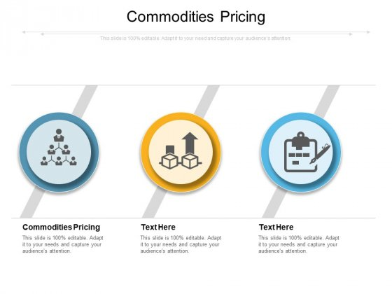Commodities Pricing Ppt PowerPoint Presentation Infographics Topics Cpb