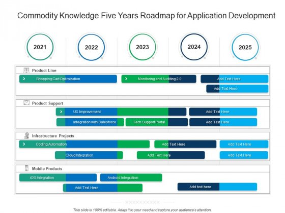 Commodity Knowledge Five Years Roadmap For Application Development Ideas