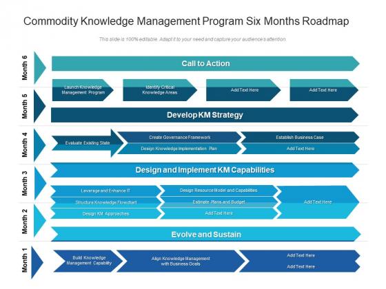 Commodity Knowledge Management Program Six Months Roadmap Template