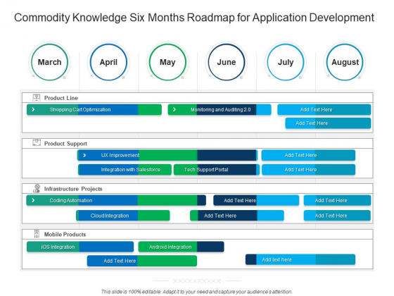 Commodity Knowledge Six Months Roadmap For Application Development Elements