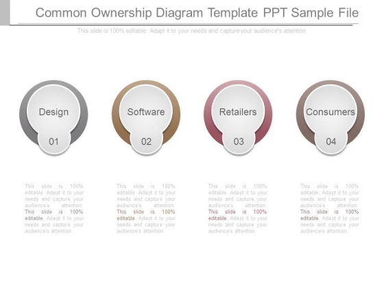 Common Ownership Diagram Template Ppt Sample File