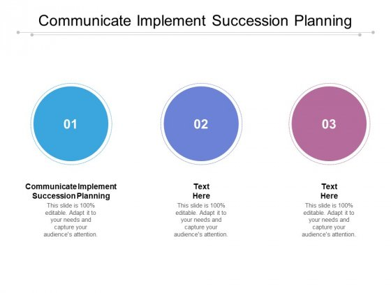 Communicate Implement Succession Planning Ppt PowerPoint Presentation Outline Slides Cpb