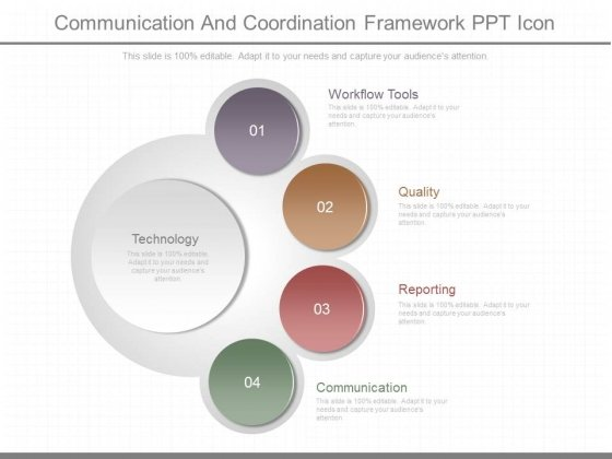 Communication And Coordination Framework Ppt Icon