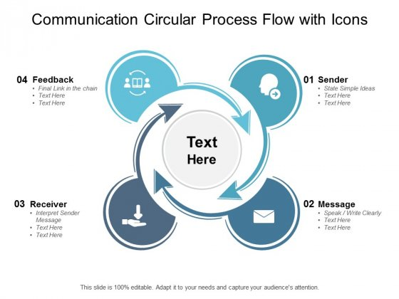 Communication Circular Process Flow With Icons Ppt PowerPoint Presentation Layouts Sample