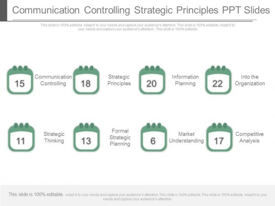 Communication Controlling Strategic Principles Ppt Slides