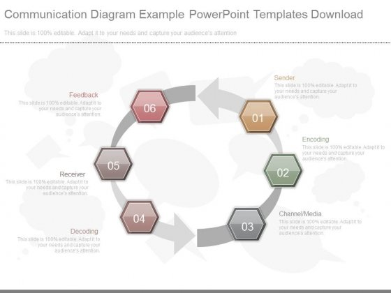 Communication Diagram Example Powerpoint Templates Download