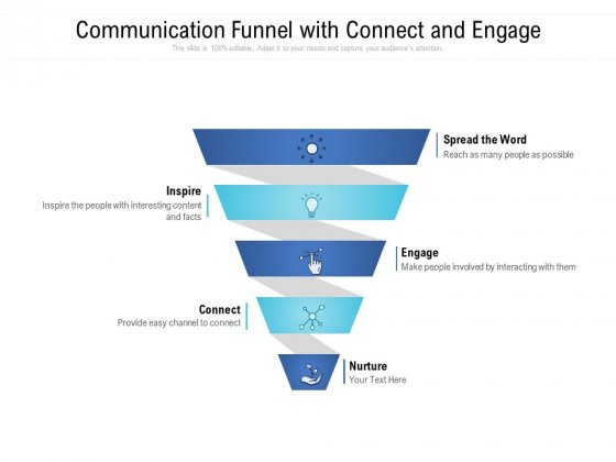 Communication Funnel With Connect And Engage Ppt PowerPoint Presentation Slides Guide