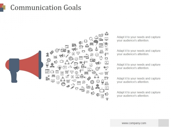 Communication Goals Ppt PowerPoint Presentation Visuals