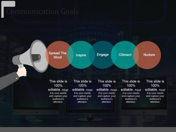 Communication Goals Template 1 Ppt Powerpoint Presentation Outline Designs