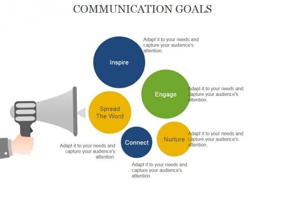 Communication Goals Template 1 Ppt PowerPoint Presentation Outline Ideas