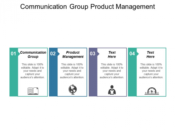 Communication Group Product Management Ppt PowerPoint Presentation Ideas