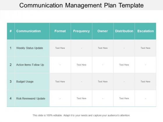 Sample Communications Plan Template from www.slidegeeks.com