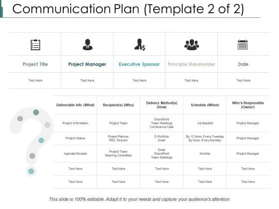 Communication Plan Ppt PowerPoint Presentation File Information