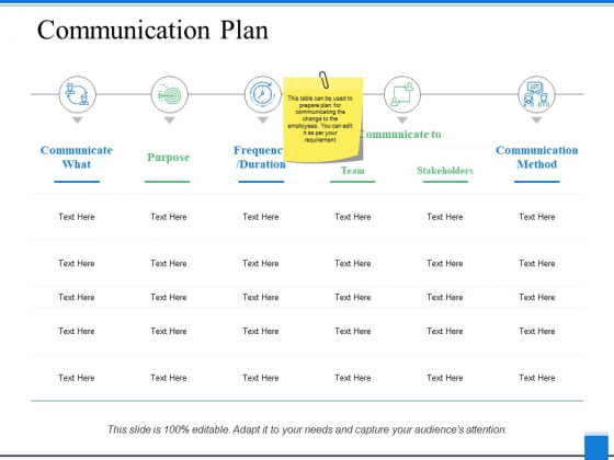 Communication Plan Ppt PowerPoint Presentation Portfolio Master Slide