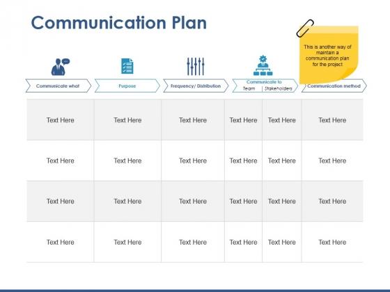 Communication Plan Ppt PowerPoint Presentation Styles Slideshow