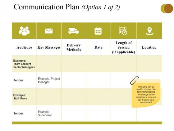Communication Plan Template from www.slidegeeks.com